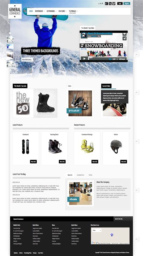 store themes wordpress free general commerce wordpress store or corporate style theme