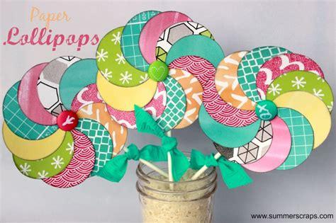 lollipop craft paper crafts paper lollipops tutorial summer scraps