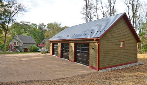 pole barn designs Garage And Shed Farmhouse with barn doors copper gutters ? cybball.com