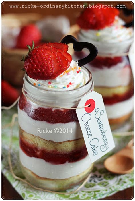 cara membuat cheese cake in a jar just my ordinary kitchen strawberry cheese cake in the jar