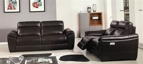 Leather Recliner Sofa Set 2 Forma Italian Brown Leather Power Recliner Sofa Set