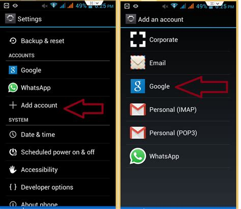 add account to android how to add account in smartphones track my android phone