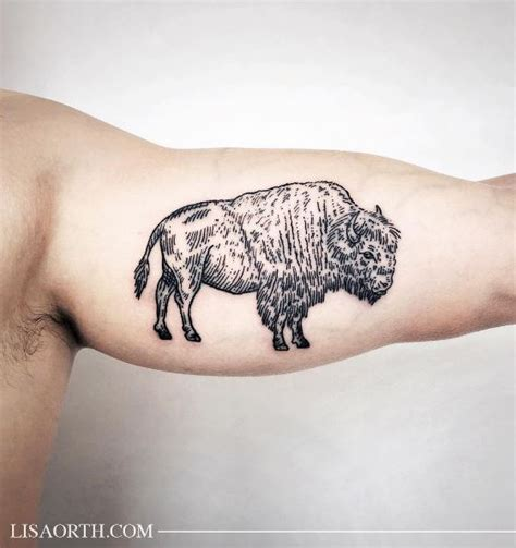 bison tattoo bison tattoo tattoo and tatting