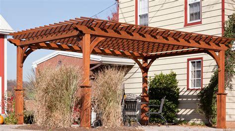 Vinyl Wooden Pergolas Amish Built Pergola Md Nj How To Build A Wooden Pergola