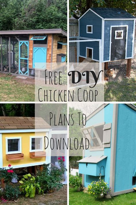 diy chicken house plans free 17 amazing free diy chicken coop plans to download