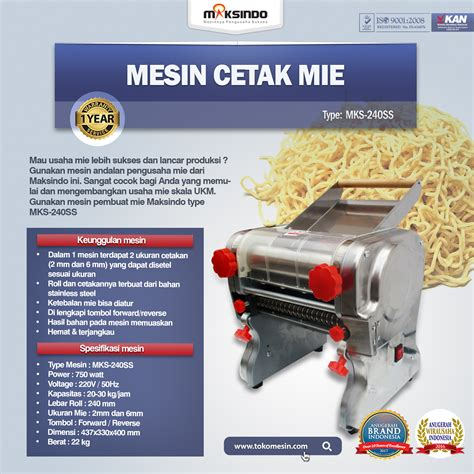 Jual Sho Metal Di Semarang jual mesin cetak mie mks 240ss di semarang toko mesin