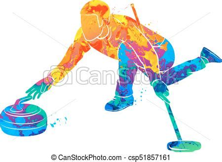 curling game sport royalty free cartoon cartoondealer curling game sport abstract the game of curling from