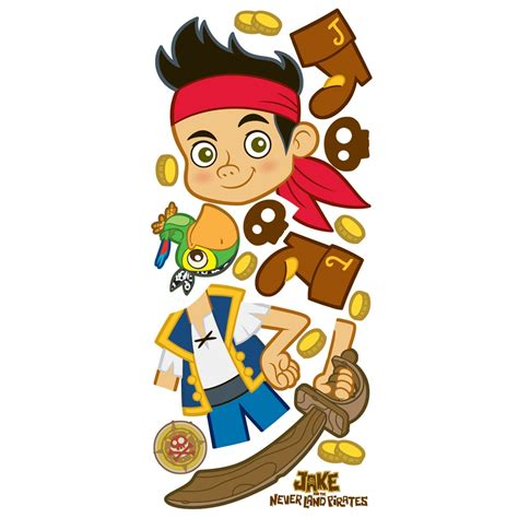 jake and the neverland wall stickers jake and the never land jake wall sticker