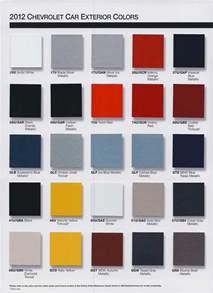 2012 chevrolet color chart camaro5 chevy camaro forum