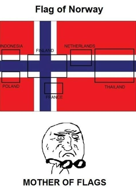 Flag Meme - norway mother of god know your meme