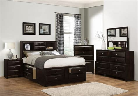 Espresso King Size Bedroom Set by Modern Oxford Espresso Storage King Size Bed Dresser