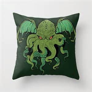 cthulhu throw pillow by missmonster society6