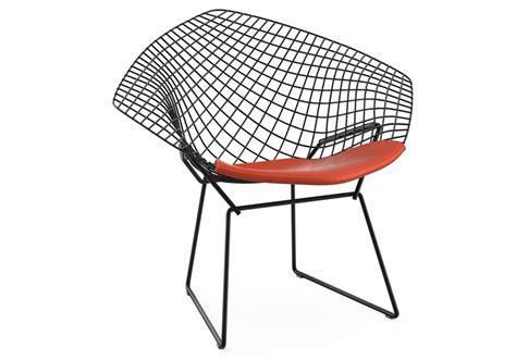 poltrona cuscino bertoia chair poltroncina con cuscino knoll