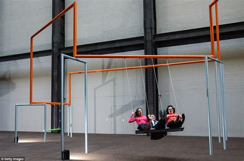 modern swings danish artists fill the tate modern with triple swings