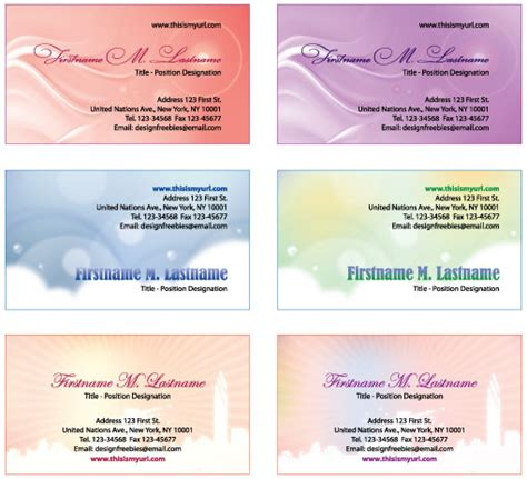 personal business card template illustrator free illustrator templates more personal business cards