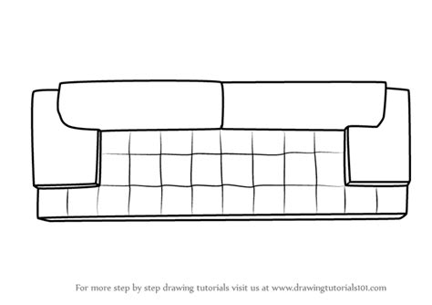 how to draw a 3d sofa learn how to draw sofa couch top view furniture step by