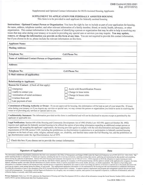 hud housing application all ghc forms