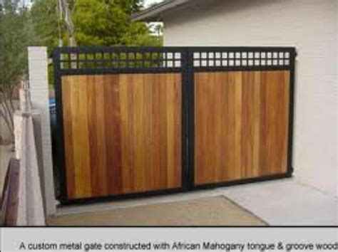 wood and metal fence wood steel gate home sweet home wood