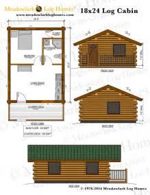 Cabin Plans 18x24 Log Cabin Meadowlark Log Homes