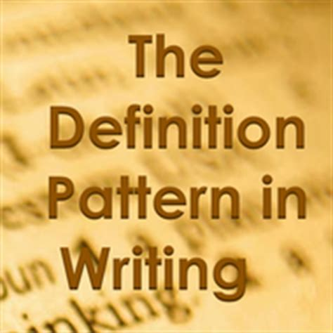 pattern in writing definition definition pattern in writing