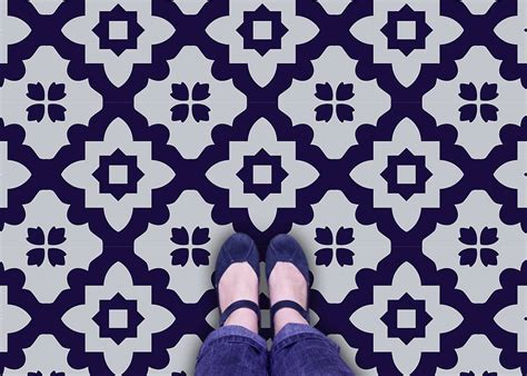 pattern vinyl flooring uk casablanca vinyl floor tiles by zazous
