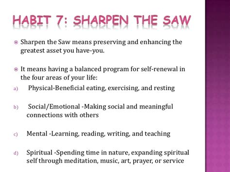 Habits Ppt Sharpen The Saw Quotes Www Imgkid The Image Kid Has It