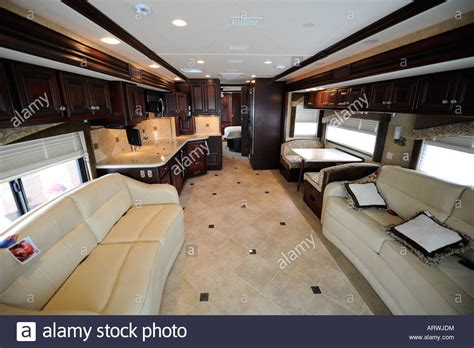 motor home interiors interior of a motorhome coach stock photo 16134655 alamy