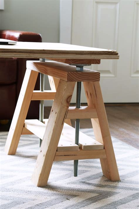 ana white build  modern indsutrial adjustable sawhorse