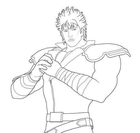 coloring page of the north star kenshiro fist of north star by theumbris on deviantart