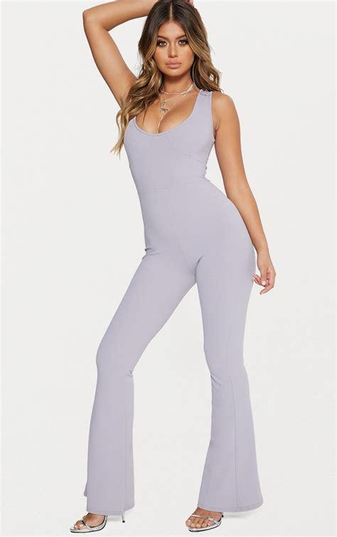 Sale Elc304 Pull Scuba Jumpsuit jumpsuits jumpsuits for prettylittlething