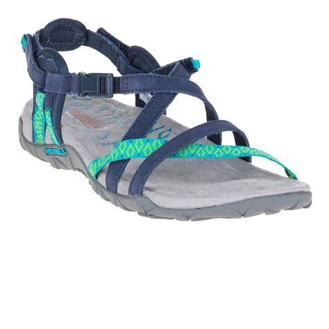 merrell terran lattice ii womens black strappy outdoors sandals summer shoes ebay