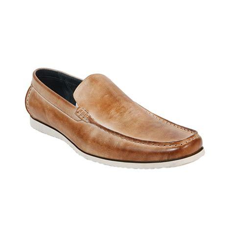 loafers steve madden steve madden atlee leather slip on loafers in beige for