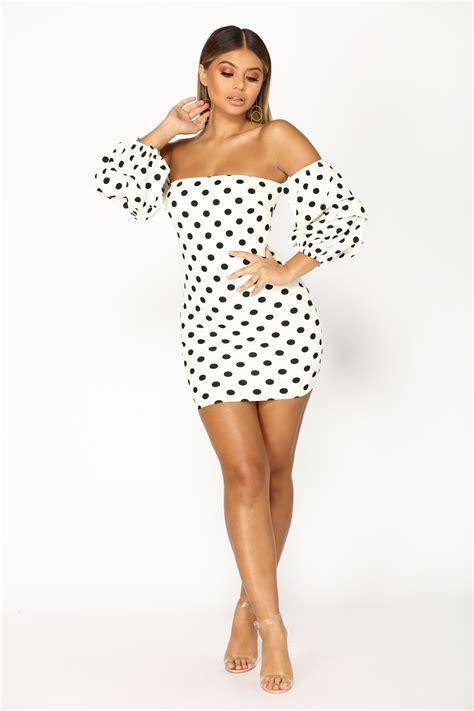 dress in polka dot intl anisa polka dot dress white