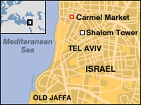 middle east map tel aviv news middle east bomber attacks tel aviv market