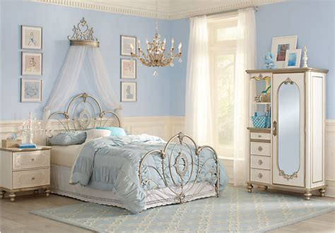 Disney Princess Bedroom Furniture Set Disney Princess Enchanted Kingdom Iron 4 Pc Panel Bedroom Disney Bedroom Sets Metal