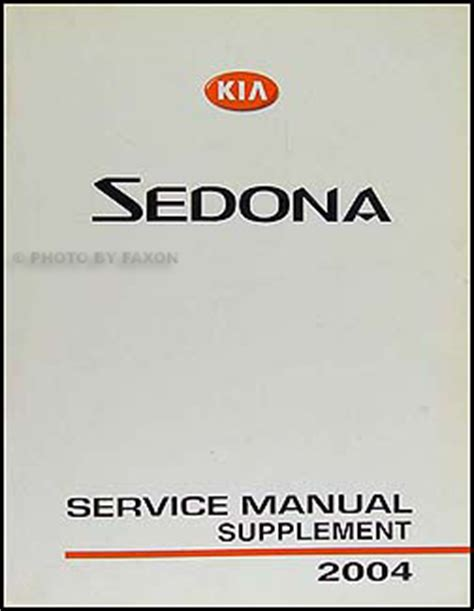 how to download repair manuals 2004 kia sedona windshield wipe control 2004 kia sedona repair shop manual original supplement