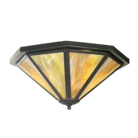 American Lighting Fixture Corp Meyda 21465 Octagon American Flush Mount Ceiling Fixture