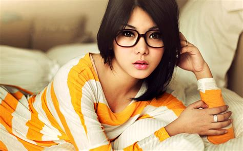 Asian Hairstyle Glasses Eye by Black Hair Asian Glasses Looking At Viewer