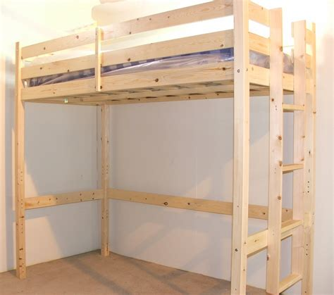 high bunk beds 4ft 6 heavy duty solid pine high sleeper