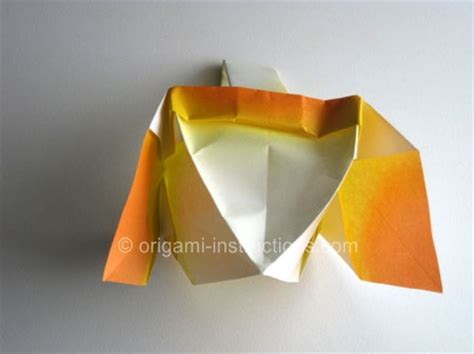 Origami Basket With Handle - easter craft origami basket folding how