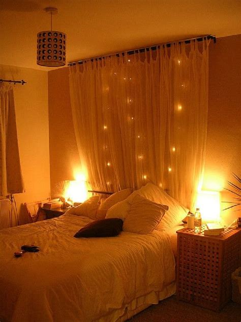 lights in a bedroom advertisement
