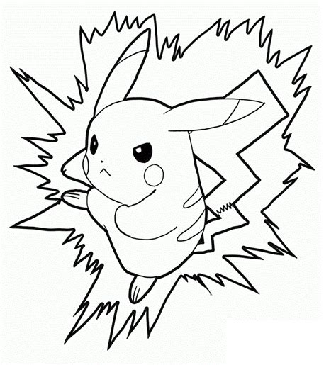 printable coloring pages of pikachu free printable pikachu coloring pages for kids