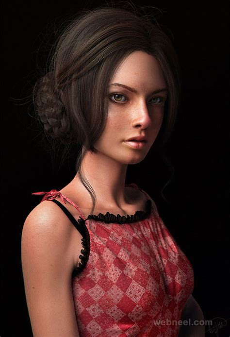 3d girls 50 beautiful 3d girls and cg girl models from top 3d designers