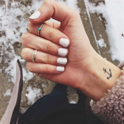 tattooed heart midi midi rings always look great with white or neutral nails