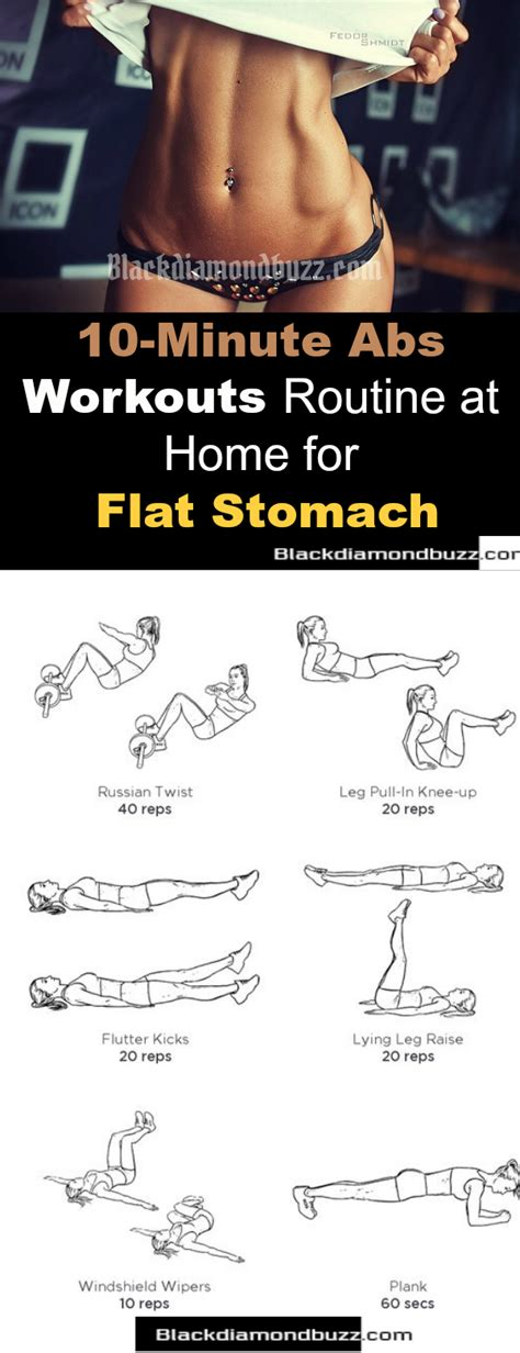 minutes abs workout routine  home  flat stomach