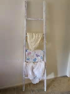 items similar to shabby chic rustic blanket ladder on etsy