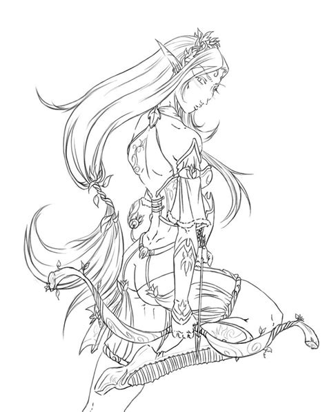 wood elf coloring pages dungeons and dragons elf by justonewing on deviantart