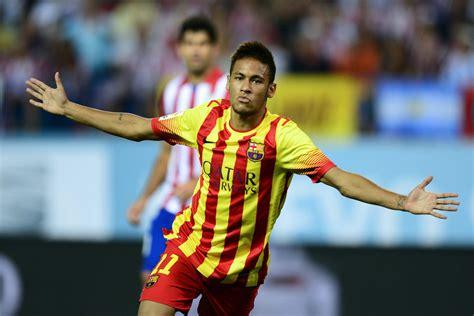 neymar s neymar s first barcelona goal comes vs atletico madrid in