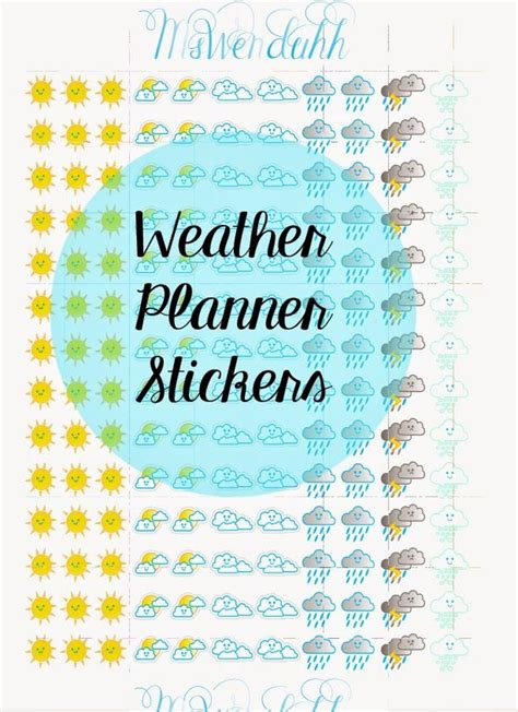 weather planner stickers printable planner stickers wendaful
