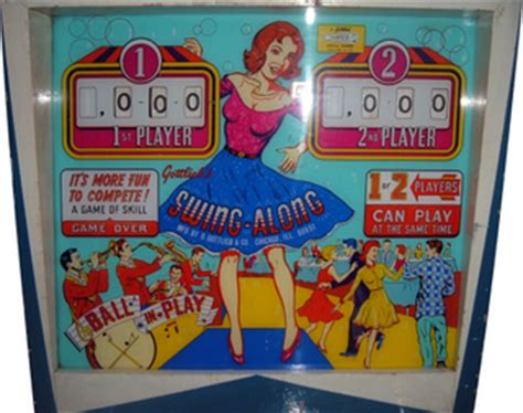 swing along pinball swing along pinball by gottlieb d co